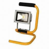 Buy cheap 90lm/W High Bright LED Floodlight with Portable Handle, 10W Power, More than 30,000 Hours Lifespan product