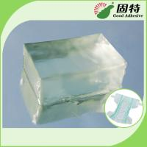 Buy cheap Light Transparent Block Synthetic polymer resin Baby Diaper Industrial Hot Melt Glue Synthetic Polymer Resin product