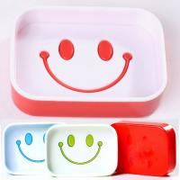 Buy cheap Novelty soap holders smile face shape PP material plastic bathroom soap dish product