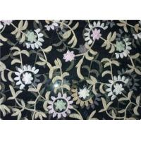 Buy cheap 100% Polyester Embroidered Fabrics Contemporary Upholstery Fabric product