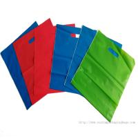 Buy cheap CPE Material Recyclable Die Cut Handle Plastic Bags Stand Up Pouch Moisture Proof product