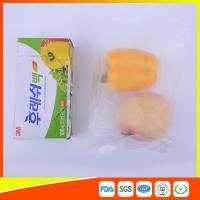 Quality Transparent Fruit Packaging Zip Top Freezer Bags Plastic HDPE / LDPE Material for sale