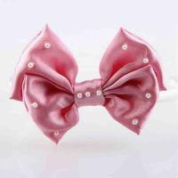 Buy cheap Headband Baby Girl Hair Accessory Ribbon Bow Customiazed Size With Pearl product