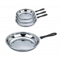 China Food Grade 410 # Stainless Steel Non Stick Frying Pan Surface Mirror Polish on sale