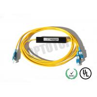 Buy cheap 1x2 1310/1550nm Fused Fiber Optic Splitter 2mm Corning OS2 Cable with SC/UPC Connector from wholesalers