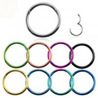 Buy cheap Titanium Hinged Segment Nose Ring 16g&14g Nipple Clicker Ear Cartilage Tragus Helix Lip Piercing Unisex Fashion Jewelry product