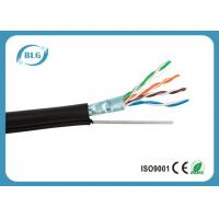 Buy cheap Outdoor Wiring Cat5e Lan Cable 0.51mm OFC Ethernet FTP Foil Shielded With Steel Messenger product