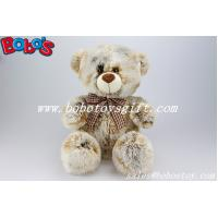 Buy cheap 100%Polyester Tie-dyed Fabric Plush Teddy Bears With Check Ribbon product