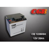 Buy cheap 12V 28AH Energy Storage Battery , AGM Valve Non Spillable Lead Acid Battery from wholesalers