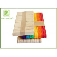 China 114mm Wavy Popsicle Sticks Wooden , Flat Handicraft Ice Cream Sticks In Bundle wholesale