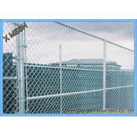 China 5 Ft Metallic Coatings Hot Dipped Galvanized Chain Link Fence Fabrics For Rural SGS Listed on sale