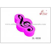 Buy cheap Rubber G Clef Music Erasers , Pink / White / Black Mechanical Pencil Erasers product