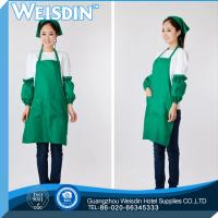 Buy cheap OEM service women's/man's cotton kitchen cooking apron with green ruffle from wholesalers