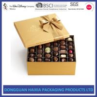 Buy cheap Recyclable Gift Boxes For Chocolates , Chocolate Candy Gift Boxes Long Lifetime product