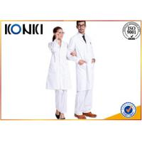 Comfortable White Medical Scrubs Uniforms , Medical Lab Coats For Doctor