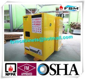 Gabinetes de seguridad inflamables incombustibles amarillos 12 galón/45L con los pies de nivelación ajustables