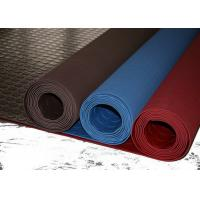 Buy cheap Red Industrial Rubber Sheet Top Round Button , Bottom Impression Fabric Non Slip product