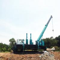 Buy cheap High Piling Speed No Vibration Hydraulic Static Pile Driver product