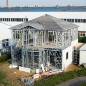 China Prefab Disaster Light Steel Frame Houses , Light Weight Steel Framed Homes on sale