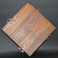 China Exterior 3D Wood Grain Aluminum Wall Board PVDF Spray Painted Weather Resistance on sale