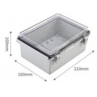 Buy cheap 210x160x100mm IP65 ABS Plastic Enclosure With Hinged Cover product