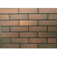 Buy cheap Colord Clay Exterior Faux Brick , Thin Veneer Brick For House Wall product