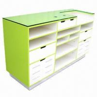 Buy cheap Cash Desk with 12mm Toughened Glass Top and 2-color Assortment Finish  product