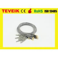 Buy cheap Customize Flexible Soft EEG Cable With Gold Plated Copper Cup , CFDA CE Approved product