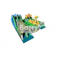 China Big Snake shaped Inflatable Obstacle Course Commercial Grade For Big Event wholesale