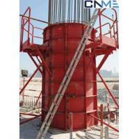 Buy cheap High Stiffness Circular Column Formwork Systems Channel Steel Material Red Color product