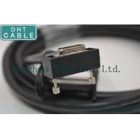 Right Angle Camera Link Cable MDR Overmolding Black Color With Screw Locking