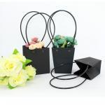 Buy cheap Waterproof Flower Packaging Carry Kraft Paper Bag With Plastic Handle product