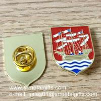 Buy cheap Sailing boat enamel lapel pin with color filled, butterfly clasp enamel lapel pins, product