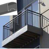 Buy cheap Outdoor Aluminum Hand Railings For stairs , exterior hand railings product