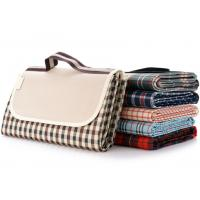 Buy cheap Collapsible Checkered Picnic Mat , 600D Oxford Fabric Picnic Time Beach Mat from wholesalers