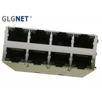 Buy cheap 2 x 4 Stacked Magnetic RJ45 Connector 1000 Base T with LED and EMI Tab Spring product