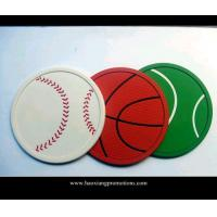 Buy cheap OEM advertising logo print silicone pvc cup coaster for promotional gift product