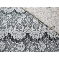 China Thin hollow nylon eyelash French lace scalloped lace fabric for lady garment(CY-DN0002) on sale