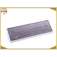 Buy cheap OEM Service Decorative Shiny Chrome Metal Logo Tags , Zinc Alloy Custom Logo Clothing Labels  product