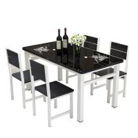 Buy cheap Modern Tempered Glass Top Dining Room Table High Temperature Resistant product