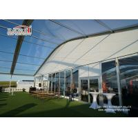 Buy cheap Sandwich Wall Clear Span Tents Transparent PVC Roof Cover Outside product