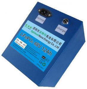 Buy cheap lifepo4 battery pack 48v 12ah used for E-bike, solar street light,UPS from wholesalers