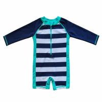 Buy cheap OEM Baby Beach One - Piece Swimsuit UPF 50+ Sun Protective Sunsuit Neck Zip product
