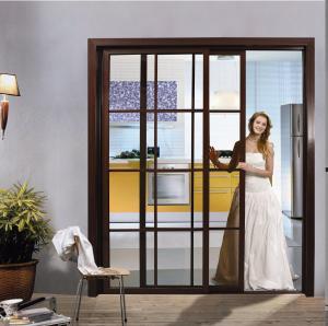 Buy cheap Aluminum Interior Sliding Glass Doors, Modern Heavy Duty Sliding Door Factory For Kitchen, Bedroom BF-1004 product