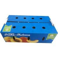 Buy cheap Apple Cardboard Fruit Boxes Pear Tomato Vegetables Customized Size Health Consistency product