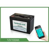Buy cheap Bluetooth function Smart Bluetooth Lithium Battery 12V 100Ah With ABS Case product