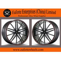 Buy cheap SS wheels - Gloss Black Red Ring Forged Wheels 100 - 139 . 7mm PCD product
