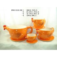 Chicken Big Mug Ceramic Flower Pots With Cup And Saucer 30 X 18.7 X 15.5 Cm