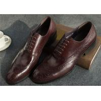 Buy cheap Narrow Style Mens Leather Oxford Shoes , Comfy Modern Office Mens Shoes product
