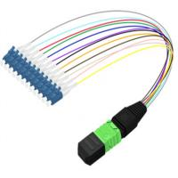 China High Reflection Loss MPO Patch Panel , 0.9mm LC SC MPO Fanout Cable on sale